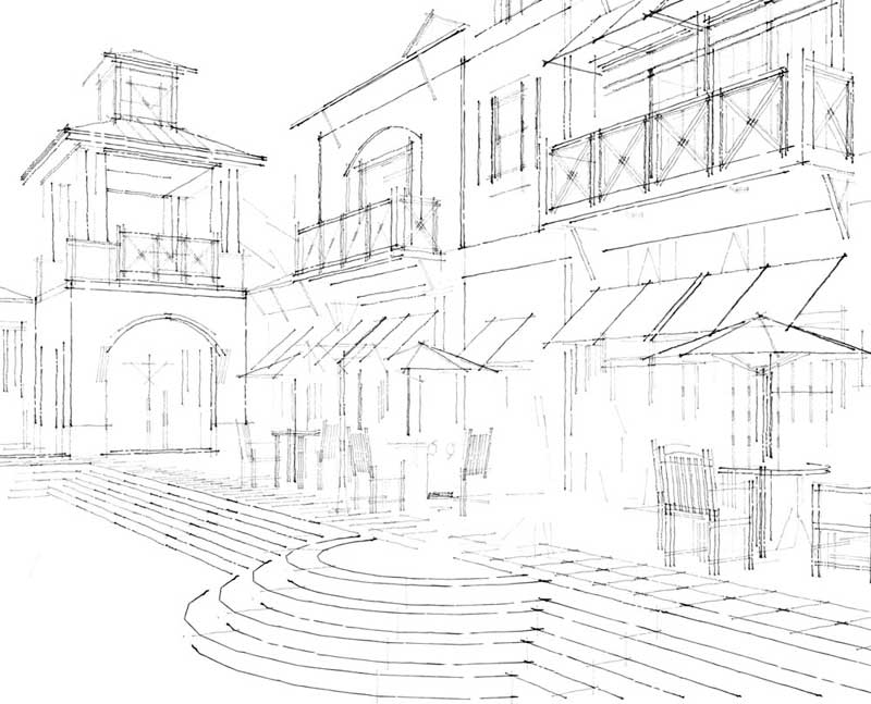 800x647 Tradigital Drawing Using The Simple Composite Method Sketchup