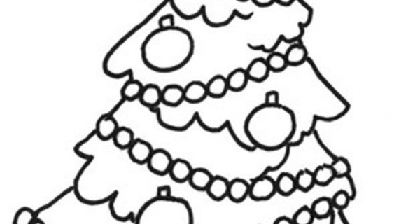 570x320 Simple Christmas Drawings Christmas Tree Line Drawing Clipartsco