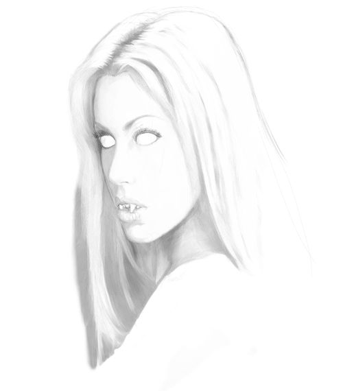 500x570 Vampire Drawings. Learn To Draw A Female Vampire.