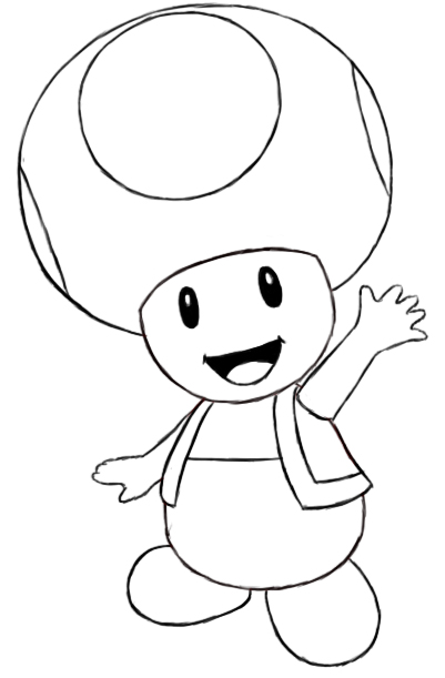 401x611 How To Draw Toad