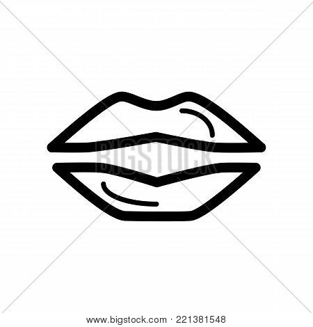 450x470 Lips Simple Vector Icon. Black Vector Amp Photo Bigstock