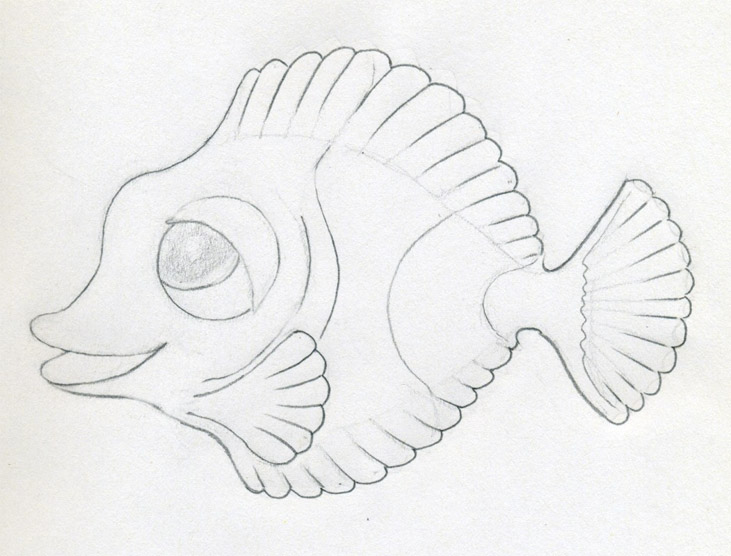 731x556 Original Cartoon Fish Drawing