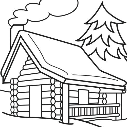 500x500 Inspirational Log Cabin Coloring Page Crayola Photo