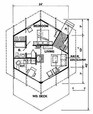 308x377 Popular Cabin Plans Including Log Home Plans, A Frame Cabin Plans