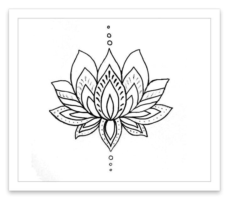 Simple Lotus Drawing