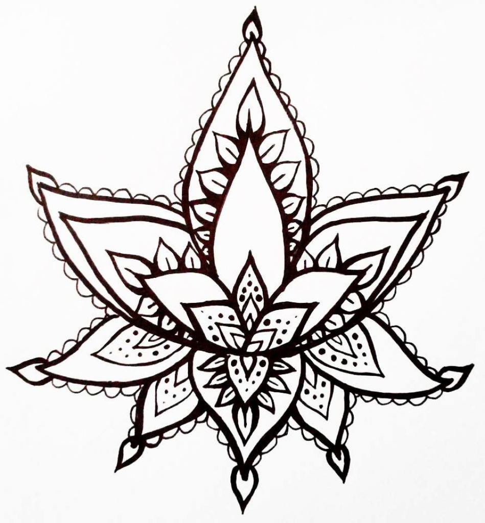 Simple lotus drawing at getdrawings free for personal use 949x1024 draw lotus flower to draw lotus flower top view mightylinksfo