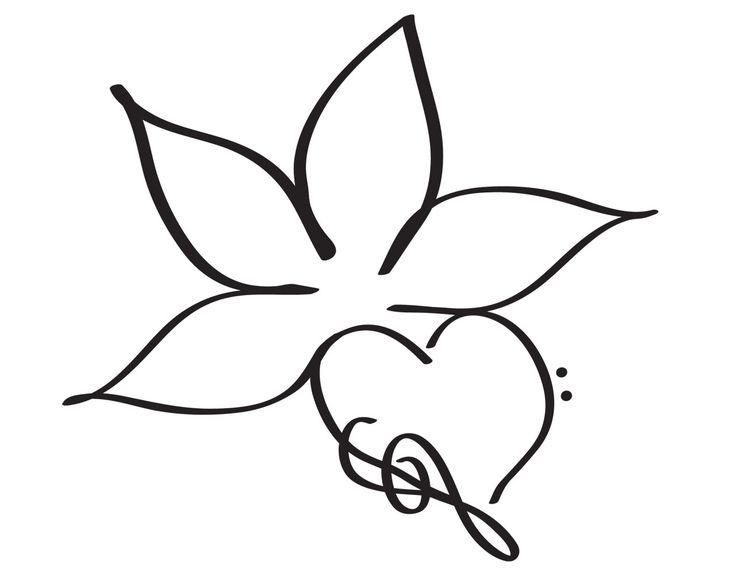 Simple Lotus Flower Drawing