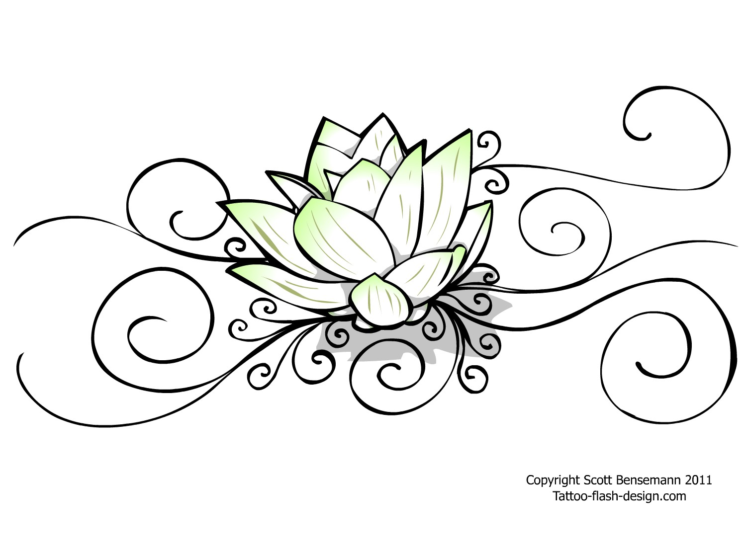 Simple Lotus Flower Drawing At Getdrawings Free For Personal