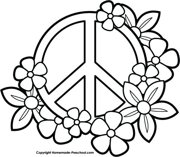 599x522 Flower Coloring Pages Coloring Pages Of Simple Flowers Coloring