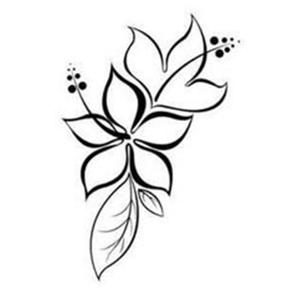 1024x1024 Hd Flowers Drawing Simple Lotus Flower Drawing