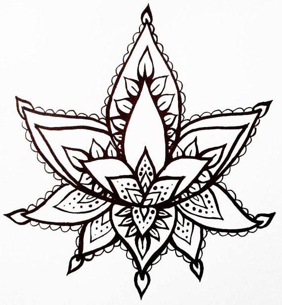 570x615 Simple Henna Drawings Flower