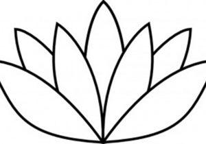 300x210 Simple Lotus Flower Drawing