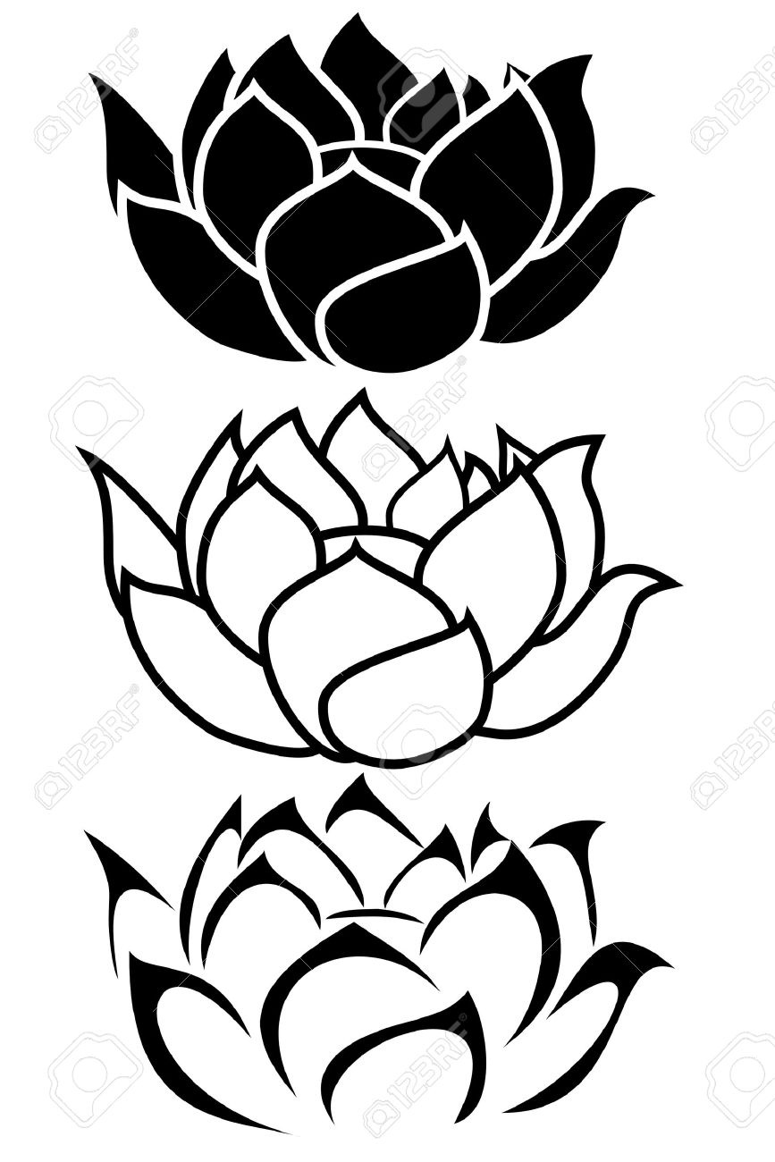 Simple Lotus Flower Drawing At Getdrawingscom Free For Personal