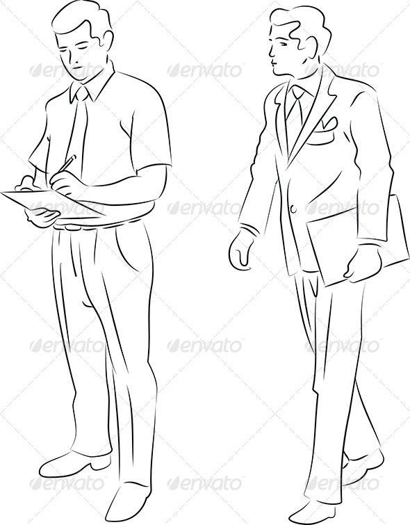 Simple Man Drawing