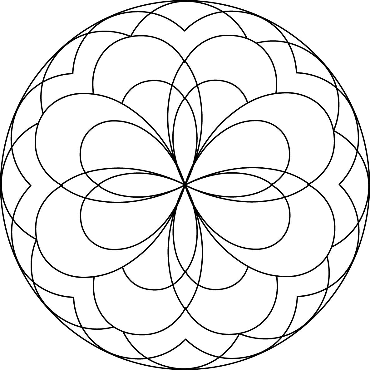 Simple Mandala Drawing At Getdrawings Com Free For Personal Use