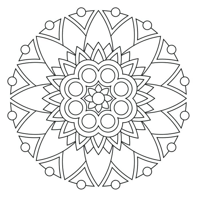 687x687 Printable Mandalas For Kids Draw Background Simple Mandalas