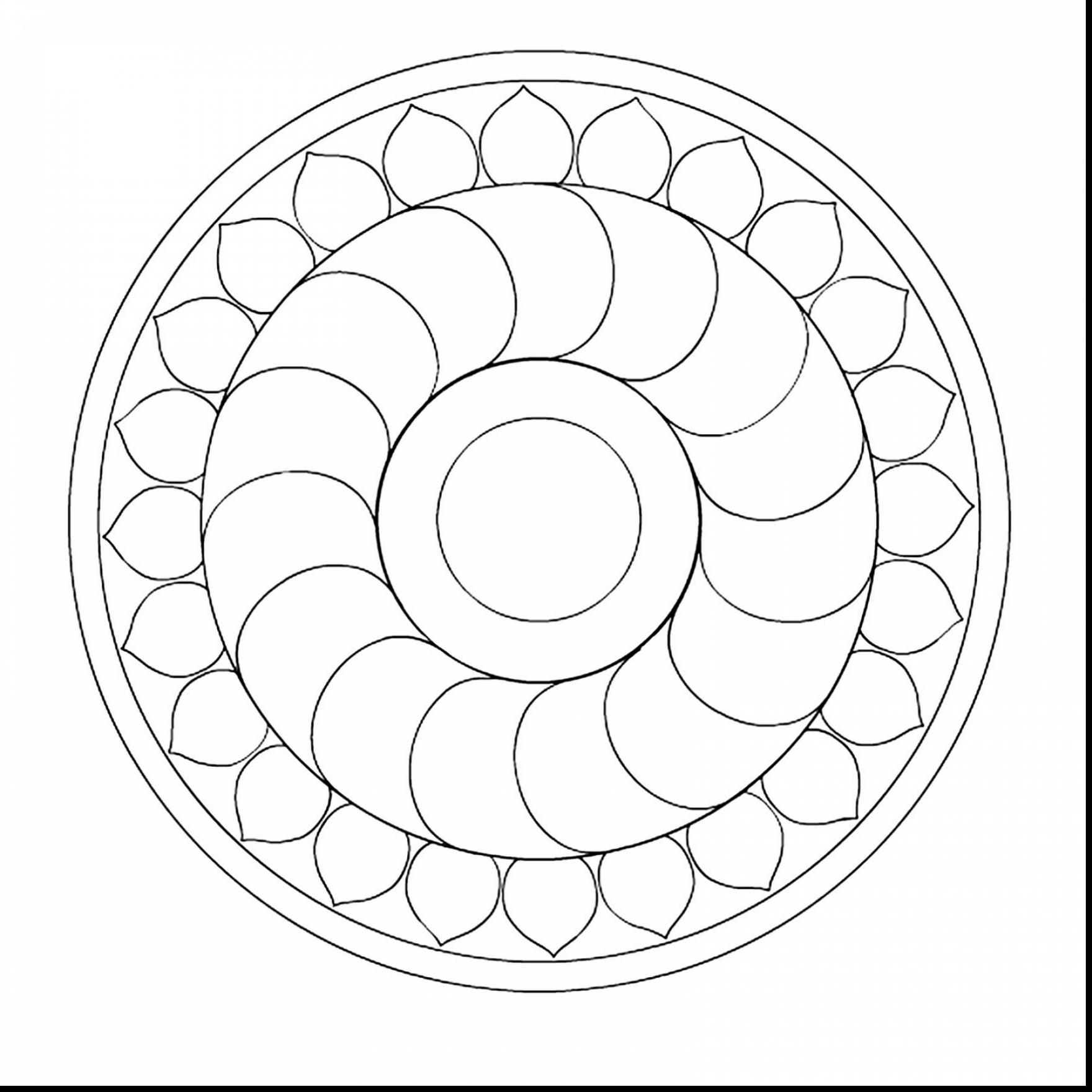 1760x1760 Stunning Simple Mandala Coloring Pages With Easy Throughout