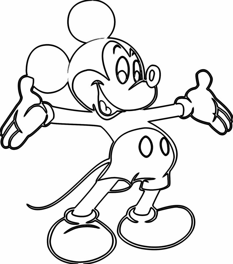 800x907 Free Online Printable Coloring Pages How To Draw Hd Videos Mickey