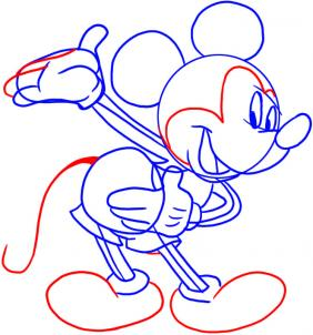 282x302 How To Draw How To Draw Mickey Mouse