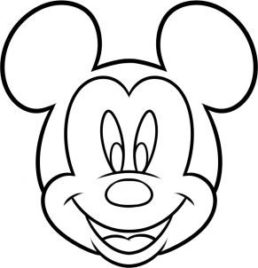 291x302 How To Draw Mickey Mouse For Kids Step 7