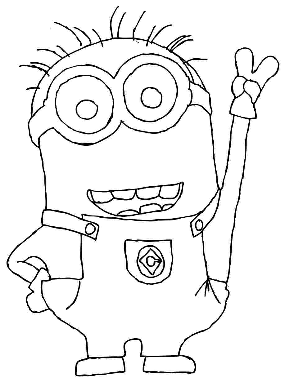 918x1232 Images For Gt Minions Black And White Coloring Page Disney39s