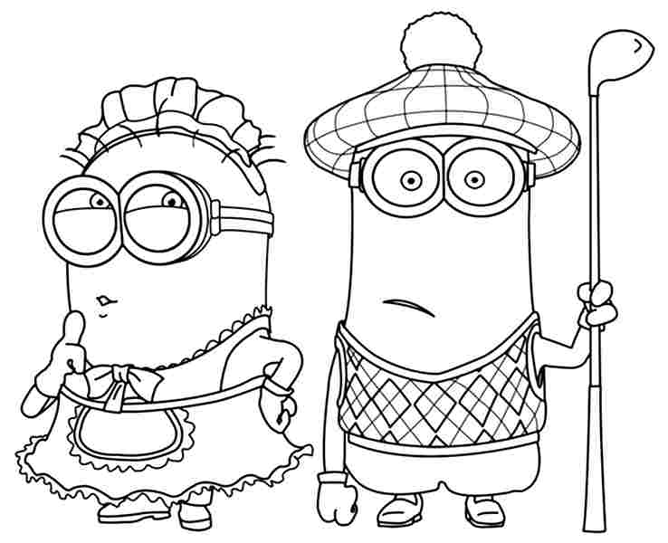738x600 Minions Coloring Pages Phil And Kevin