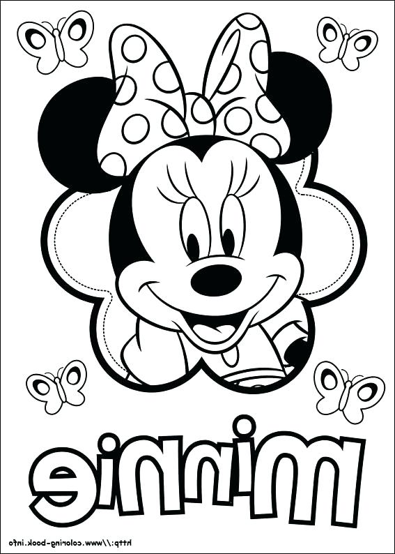 567x794 Minnie Mouse Coloring Pages Online Page The Most Amazing