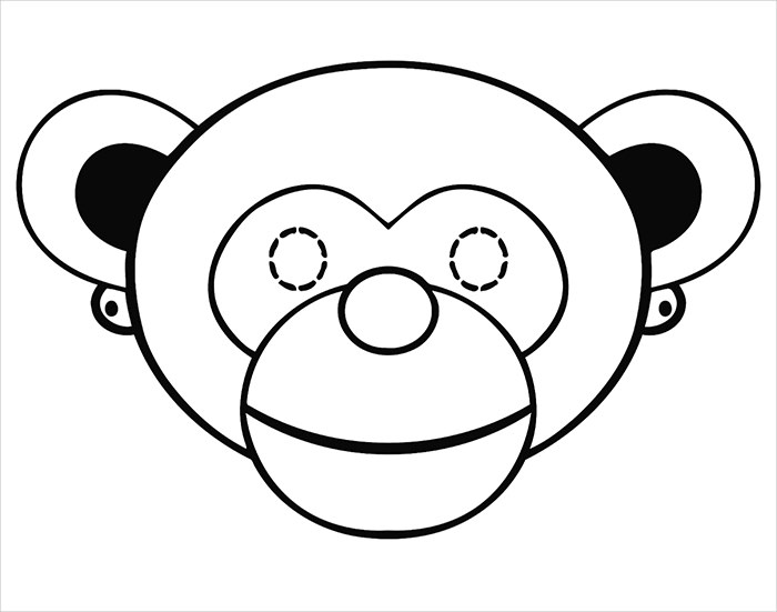 Simple Monkey Face Drawing