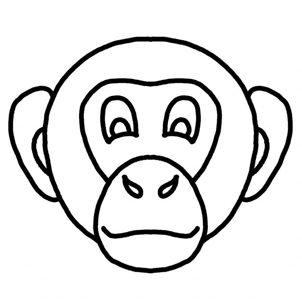 Simple Monkey Face Drawing at GetDrawings | Free download