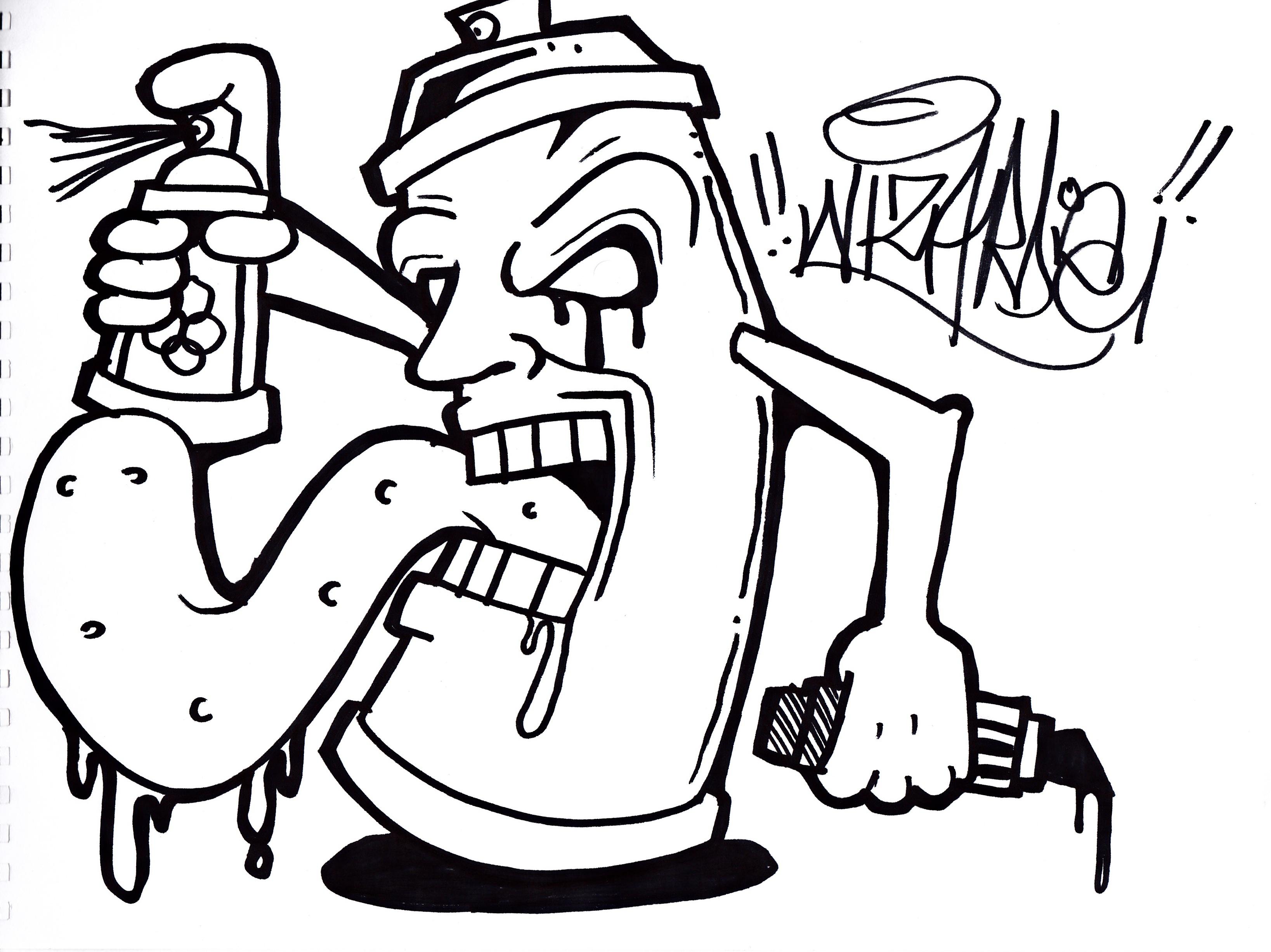 3275x2454 Graffiti Doodle Monster Doodle Graffiti Simple Graffiti Character