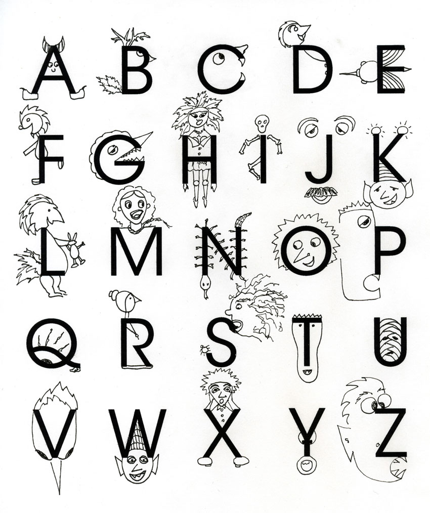 850x1014 365 Projects Monster Alphabet Doodle Day 1 Creatures
