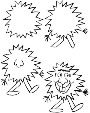 300x374 How To Draw Funny Monsters