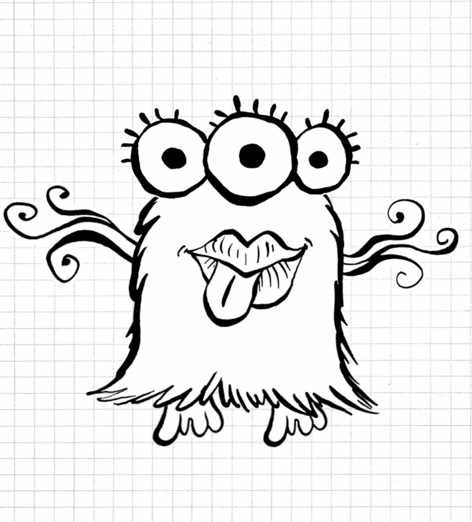 926x1024 Simple Monster Doodles Doodle Simple Monster