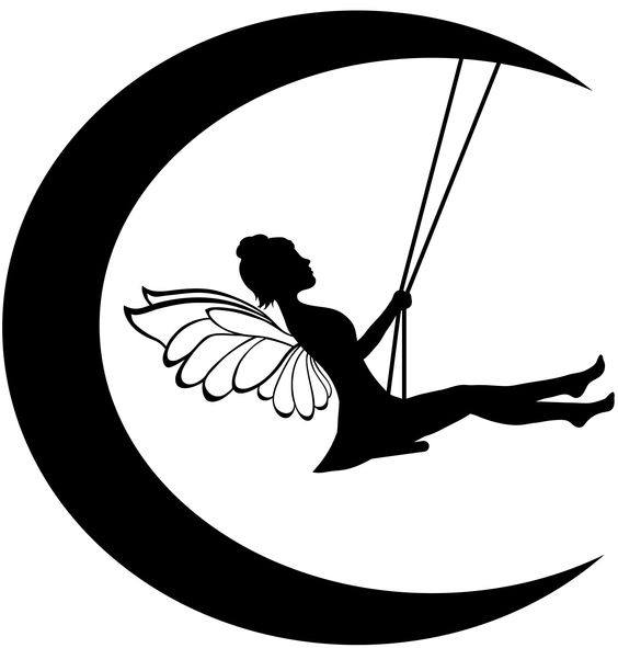 564x591 Simple Gothic Fairy On Swing In Moon Art Gothic