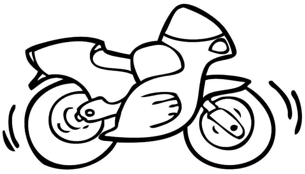 1050x600 Easy Motorcycle Coloring Book Real Motorcycle Coloring Pages