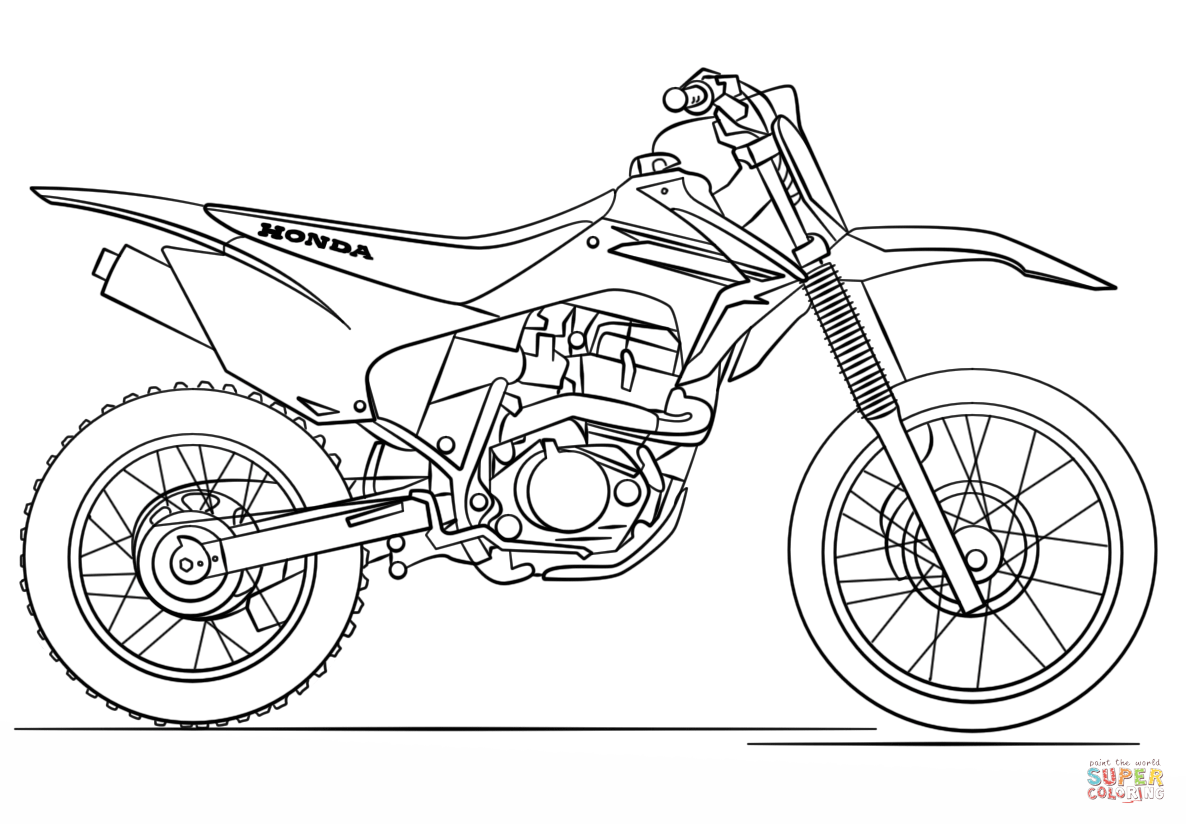1186x824 Honda Dirt Bike Coloring Page Free Printable Coloring Pages