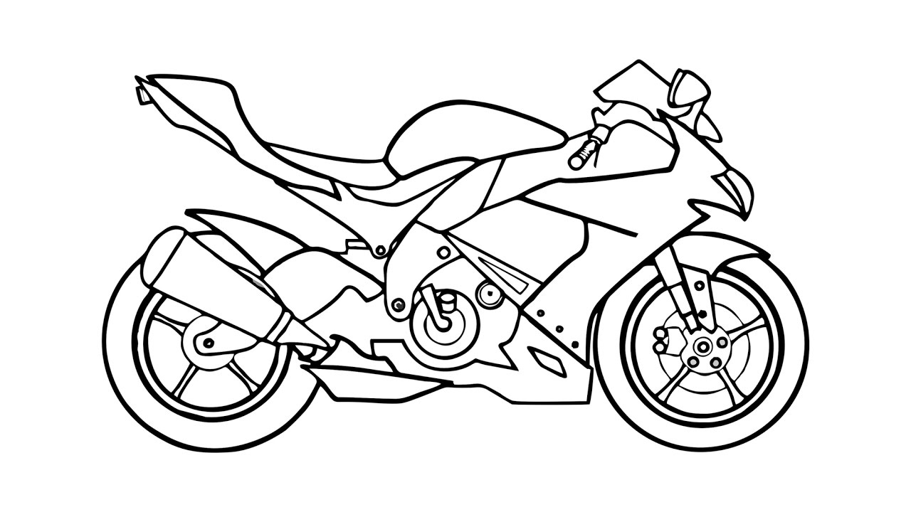1280x720 How To Draw A Motorcycle (Motorbike)