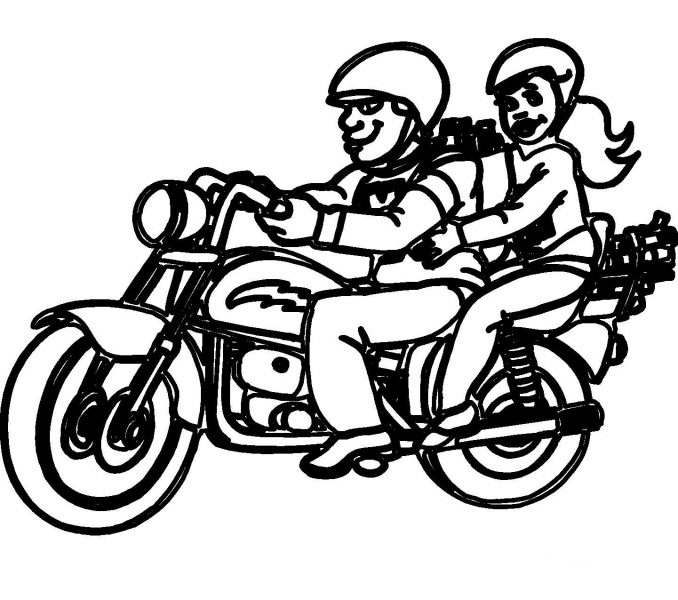 678x600 Images Motorcycle Coloring Pages 43 Additional Drawing