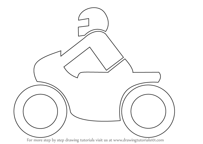 800x566 Learn How To Draw A Motorcycle For Kids (Two Wheelers) Step By