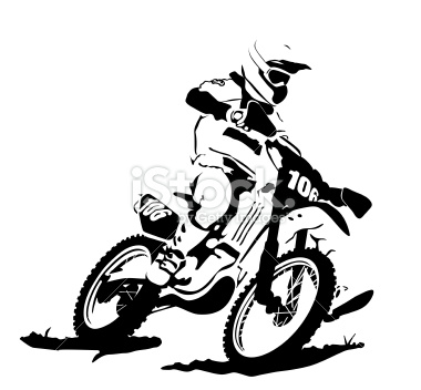 380x352 Motocross Illustration
