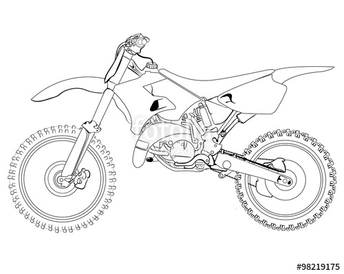 500x398 Dirt Bike Sketch Stock Image And Royalty Free Vector Files