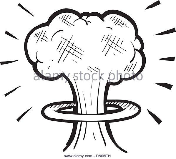 598x540 Nuclear Mushroom Cloud Sketch Stock Photos Amp Nuclear Mushroom