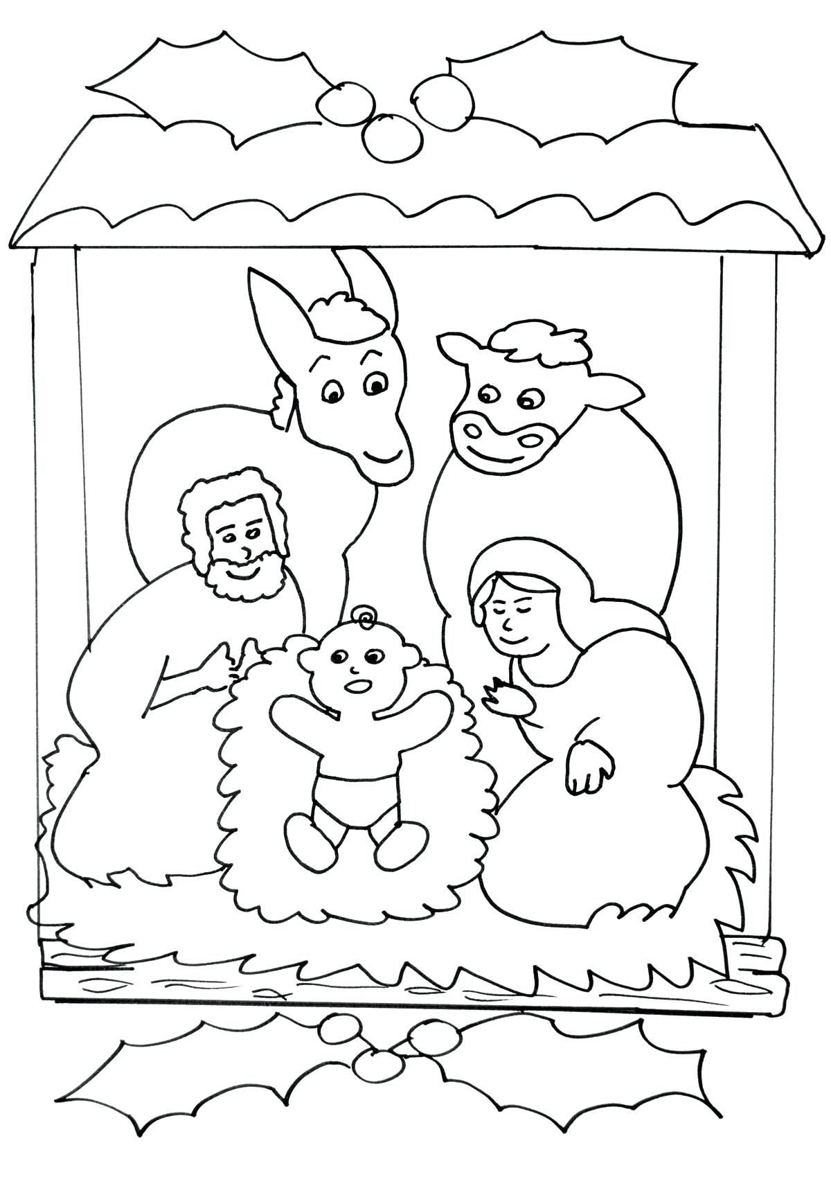 1200x1702 Coloring Page Nativity Preschool Pages Story Free Colouring