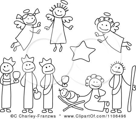 450x392 How To Draw A Manger Scene How To Draw A Manger Scene Step By Step