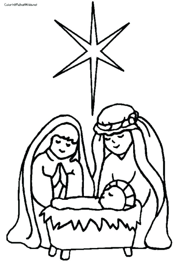 675x1024 Nativity Scene To Color Nativity Scene Coloring Pages Nativity