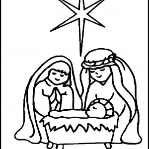300x300 Simple Nativity Scene Coloring Pages New Scene Coloring Pages