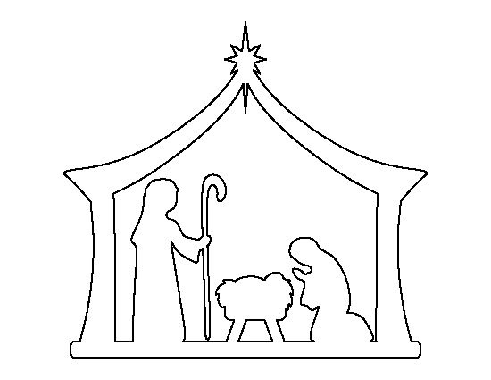 550x425 Free Silhoutte Nativity Scene Patterns Christmas Patterns Free