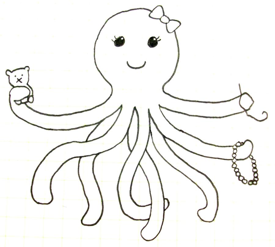 900x809 Pink Octopus Designs Logo Idea By Shrimpbisque