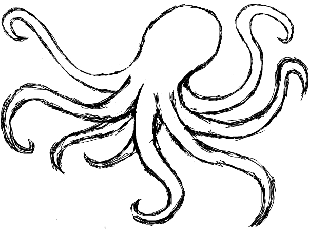 602x452 Octopus Drawing