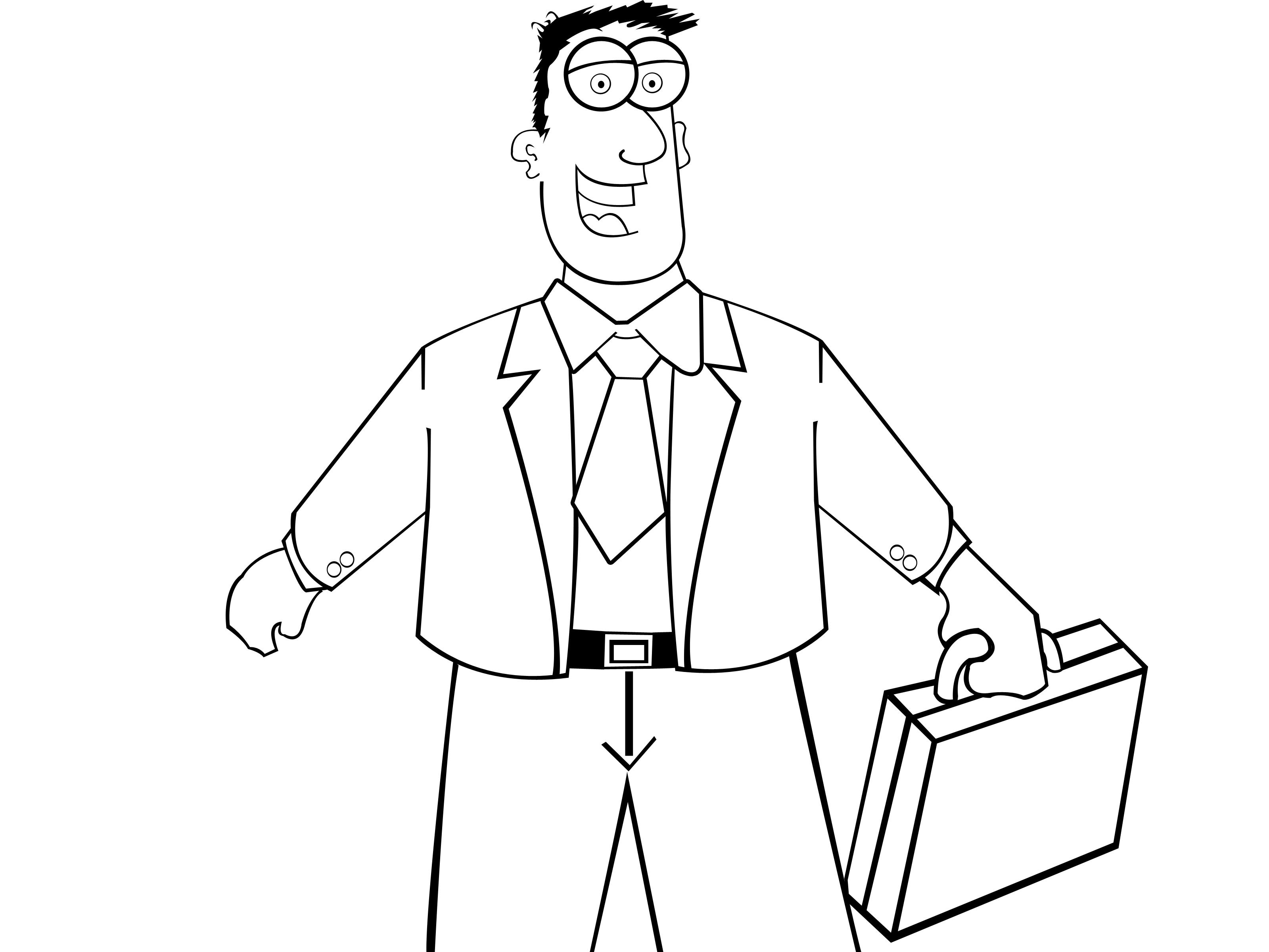 3200x2400 Drawing Cartoon Man